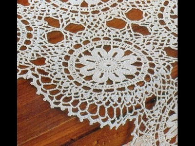 Patrón Para Tejer Carpeta.Tapete Con Rosetones a crochet