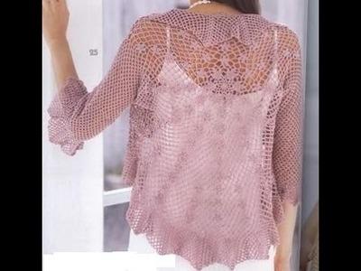 Saco Circular Japones Calado a Crochet