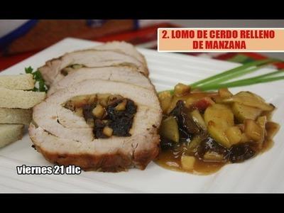 1.LOMO DE CERDO RELLENO DE MANZANA