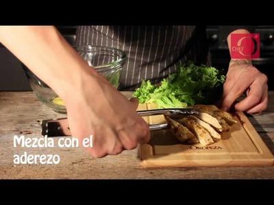 Burritos de ensalada César con pollo