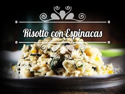 Chef Oropeza Receta: Risotto con Espinacas.Risotto with Spinach Recipe