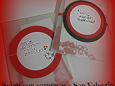 Como hacer un sobre con sorpresas de amor - Especial de San Valenin