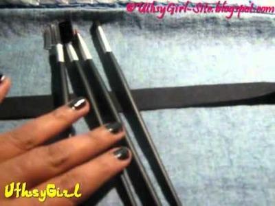 Como hacer una manta de brochas Casera  - Estuche para brochas (BrushRoll)