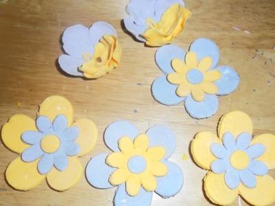 Flores en royal Icing y pasta de azucar