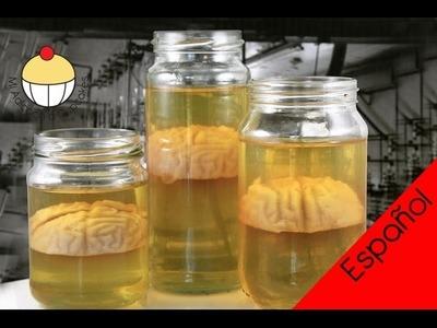¡Haz Jarras con Cerebros de Gelatina! Postre de Espeimen de Cerebro Formaldehido para Halloween