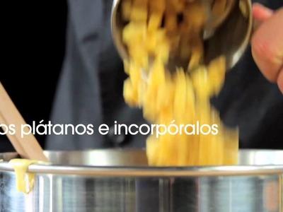PAN DE PLÁTANO Y ROMPOPE receta Chef Oropeza