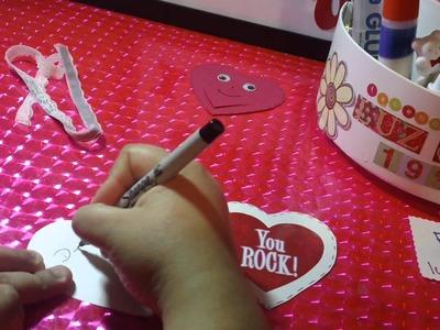 SAN VALENTIN:bolsita de corazon porta chocolatito