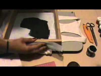 Serigrafía.Estampado de Camisetas-Franelas en casa.