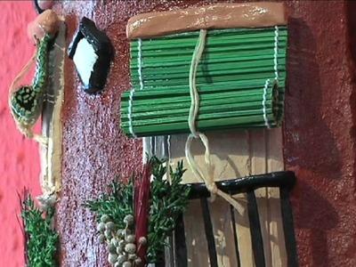 VILLANUEVA 02.06.11 Exposición tejas decoradas en la casa de la cultura
