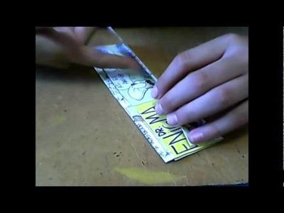 Cartera- wallet' Papel de revista' [CherryMuff23-Marte*]