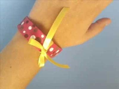 DIY. Popsicle stick bracelet ♥ Manualidades. Brazalete con palitos de paleta