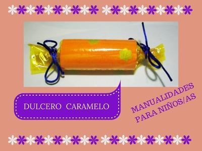 Manualidades para niñ@s (II)  Dulcero con forma de Caramelo