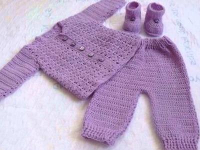 Modelos de chambritas para bebes a crochet