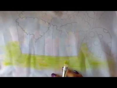 Pintura en tela mariquita #1 con cony