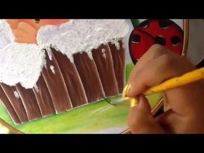 Pintura en tela mariquita # 6 con cony