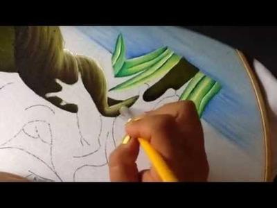 Pintura en tela ranita # 2 con cony
