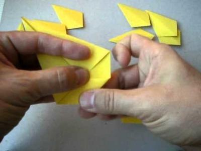 Pokemon origami. Pikachu.