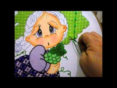 Puntada fantasia sombrero niña uva