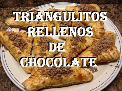 TRIANGULITOS RELLENOS DE CHOCOLATE