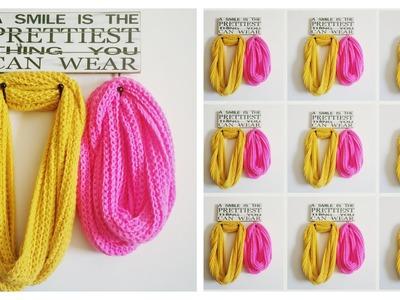 Tutorial #2: Bufanda Infinita a Crochet - Infinity Crochet Scarf (English Subtitiles)