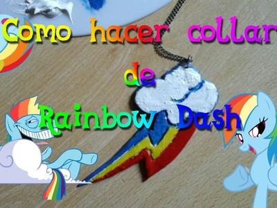 Como hacer collar Cutie Mark de Rainbow Dash➙Manualidades de MLP♥