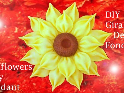 DIY flores girasoles de fondant -  Sunflowers by fondant