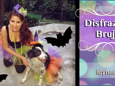 DIY :Haz tu disfraz de bruja. How to Make a Witch Costume (( Pet Costume - TUTU - Hat ^^