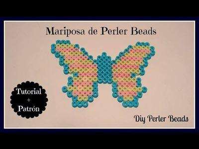 ☆ DIY: Mariposa de Perler Beads (Hama Beads). es.Pandahall.com ☆