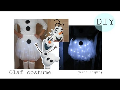 ✂ DIY Olaf costume with light- easy halloween costume- Disfraz fácil y original  |  Nerea Iglesias