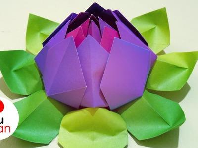 Flores de Papel - Loto | Origami - DIY