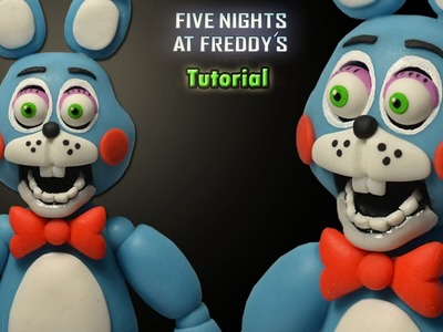 FNaF 2 ★ Toy Bonnie Tutorial - Polymer clay. Porcelana fria. Plastilina