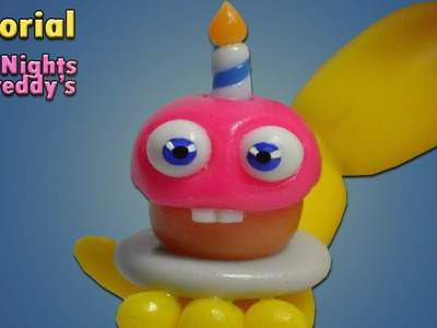Fnaf World ★ Adventure Toy Cupcake Tutorial - Polymer clay ★ Porcelana fria ★ Plastilina