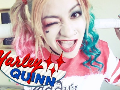 Harley Quinn MAQUILLAJE + DIY playera (HALLOWEEN)♡ NYA RAWR