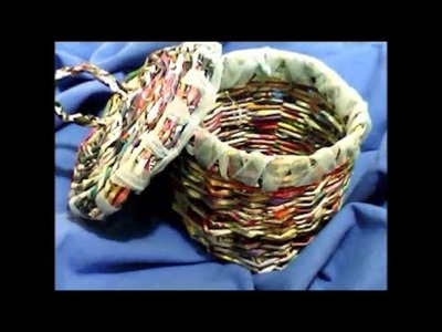 Manualidades de papel,,un canasto    paper basket