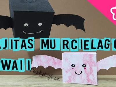Murcielagos Cajitas Kawaii Decoración Halloween DIY- DecoAndCrafts