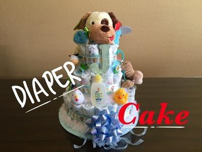 Pastel de Pañales para Baby Shower - Manualidades Con Adela