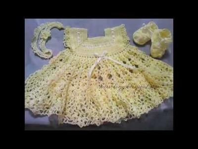 Vestidos bebe y niña tejidos en crochet y ganchillo imagenes