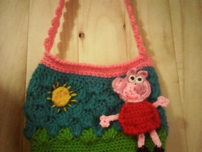 Carterita Peppa Pig tejida a Crochet parte 1