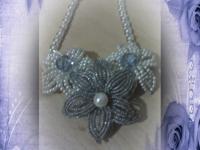 DIY:Collar con  flores de rocalla