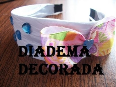 DIY:Decoracion de diadema (facil) (mundodebonny)