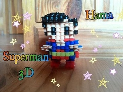 DIY Superman 3D hama beads