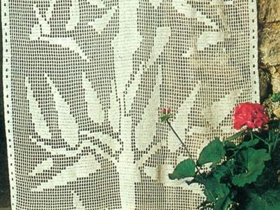 Esquemas para tejer cortinas con ramas a crochet