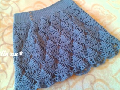 Faldas para niñas a crochet