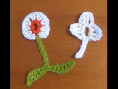 Flores para saco con flores a crochet
