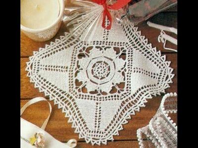 Gráficos para tejer Carpeta.Tapete a crochet