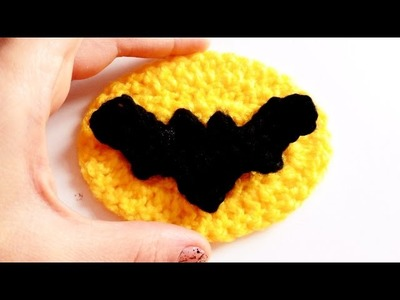 Murcielago a Crochet (Logo Batman) | How to crochet a BAT applique