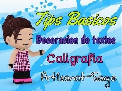 "Tips para decorar textos ""caligrafia básica"" DIY"