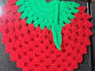 Agarradera de Frutilla a Crochet