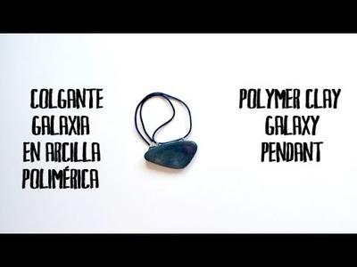 Colgante galaxia en arcilla polimérica - Polymer clay galaxy pendant