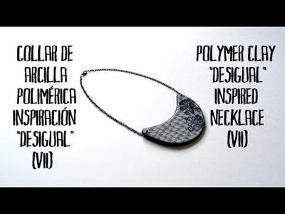 Collar de arcilla polimérica inspiración Desigual (7) - Polymer clay Desigual inspired necklace (7)